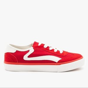 ANNA Red Side Stripe Sneakers